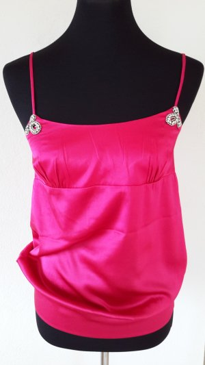 81hours Top in seta magenta-rosa Seta