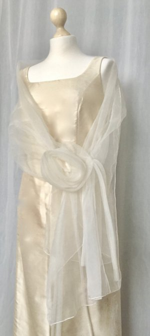 Ambiance Vestido de novia crema Seda