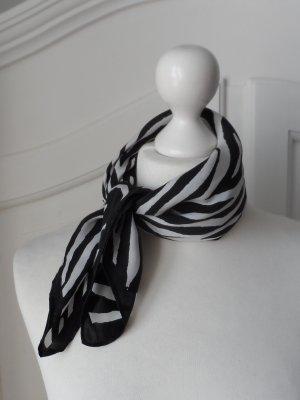 edles Seidentuch mit Animal Print Schwarz Weiß nur wenig getragen