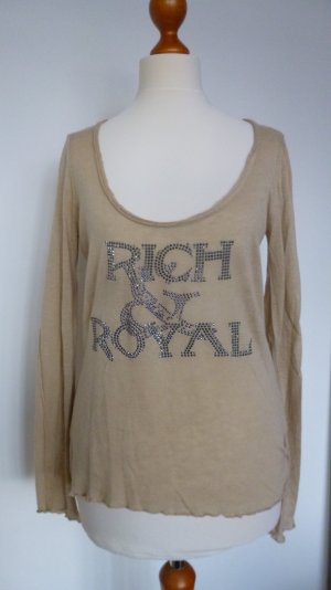 Edles Shirt von Rich & Royal in der Sommerfarbe Beige