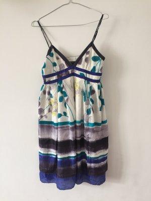edles Sommerkleid aus Seide Trägerkleid Blumenkleid Cocktailkleid
