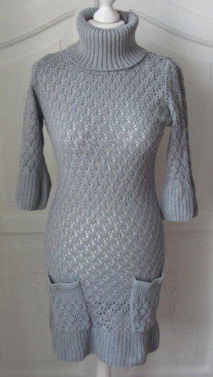 edles Strickkleid von GINA Gr. 38 grau wenig getragen