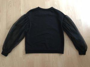 Edles Sweatshirt schwarz Tüll Pullover Gr. 36 w. NEU Tüll Top Zara