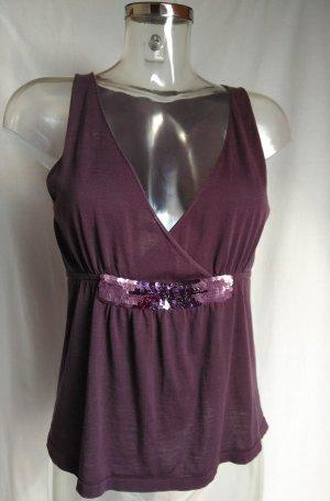 Hugo Boss Strappy Top grey lilac-brown violet cotton