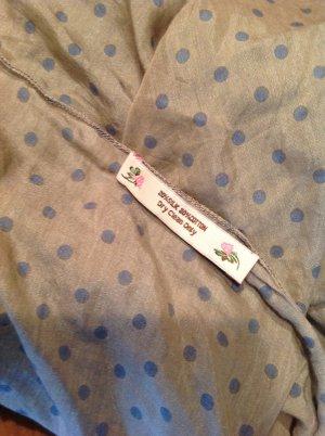 Scialle azzurro-marrone-grigio Tessuto misto