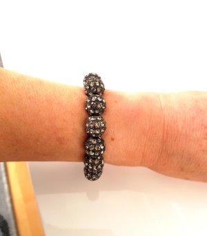 Edles und Wunderschönes Stretch Armband mit Straßsteinen Anthrazit