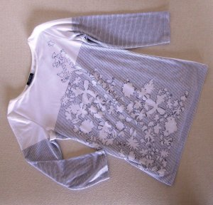 Orwell Stripe Shirt white-dark grey cotton