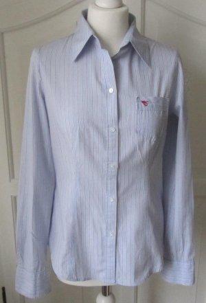 edlle Esprit Bluse hellblau mit feinen Streifen Gr. M wenig getragen