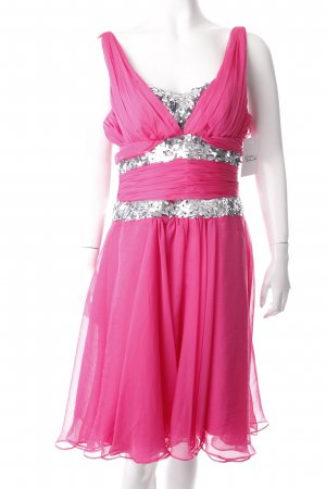 eDressit Cocktailkleid pink-silberfarben Paillettenverzierung