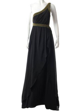 eDressit One-Shoulder-Kleid dunkelbraun-olivgrün Schmucksteinverzierung