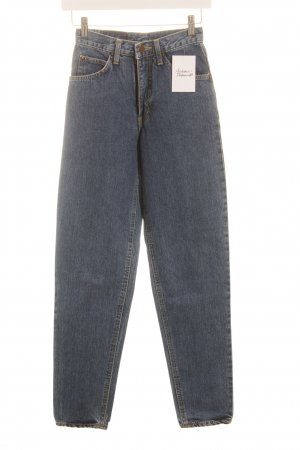 Edwin Hoge taille jeans blauw casual uitstraling