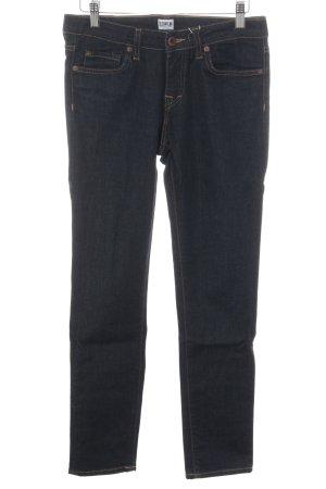 Edwin High Waist Jeans dunkelblau Webmuster Casual-Look