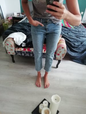 Edwin Jeans The Boyfriend Cropped Ankle destroyed