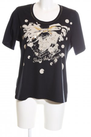 Efixelle T-Shirt abstraktes Muster Casual-Look