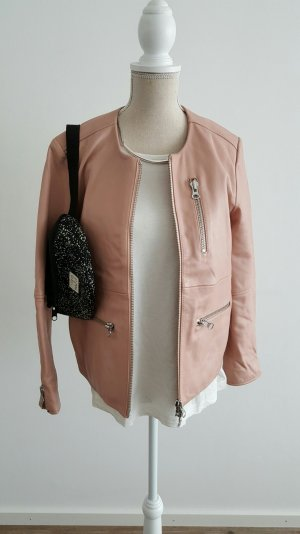 Egg shape Lederjacke von Weekday