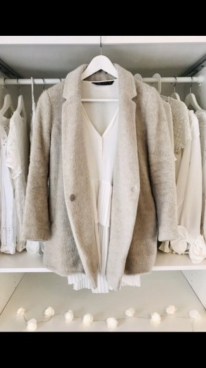 Turnover Abrigo de lana gris claro-gris lana de esquila