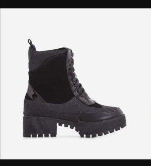 EGO Bottines à lacets noir