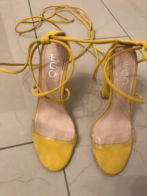 EGO Strapped High-Heeled Sandals yellow