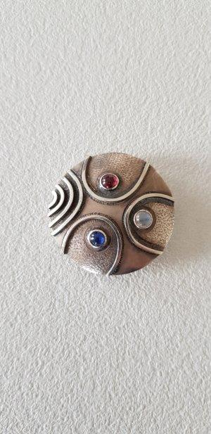 Egon Guenther Designer Brosche Anhänger Silber Mondstein 1958