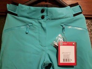 Pantalon de sport turquoise polyamide