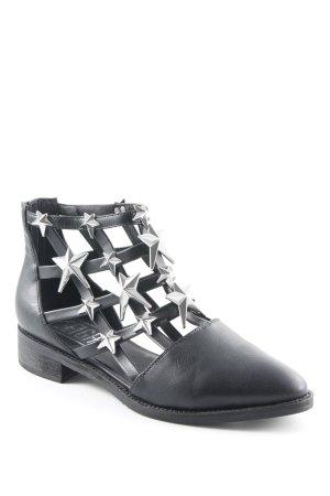 eight Reißverschluss-Stiefeletten schwarz-silberfarben Street-Fashion-Look
