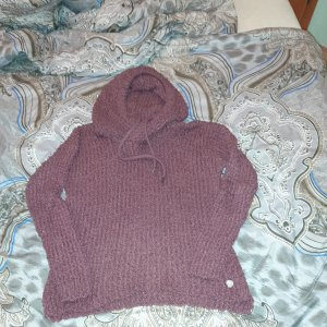 Hooded Sweater brown red