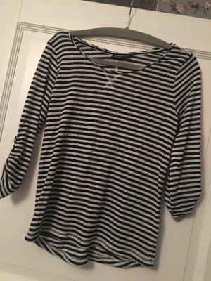 Eight2Nine Pullover schwarz / weiß Streifen Gr. S