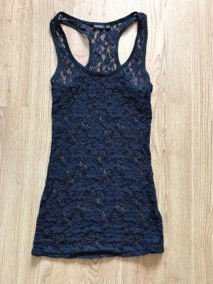 Lace Top black-dark blue