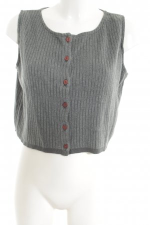 Eileen Fisher Short Sleeve Knitted Jacket light grey-red striped pattern