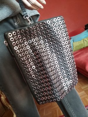 Clutch black leather