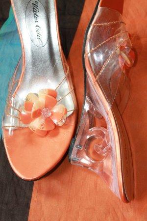 Sandalias con tacón multicolor Material sintético