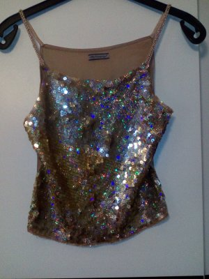Off the shoulder top goud