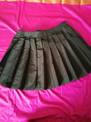 Miu Miu Plaid Skirt black