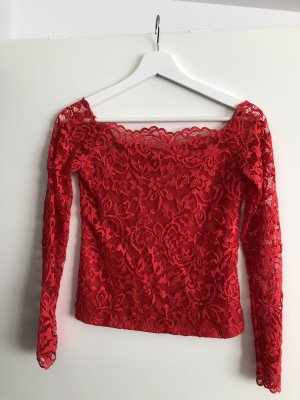 Hennes Collection by H&M Carmen Shirt red polyamide