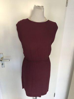 Mango Off-The-Shoulder Dress brown violet