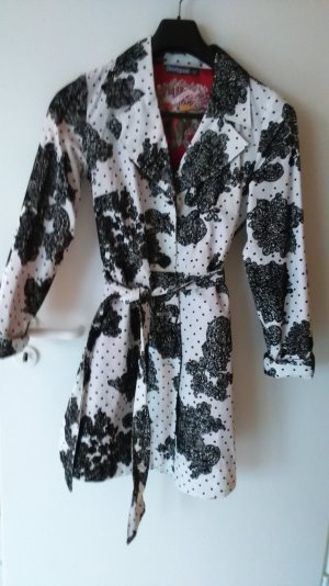 Desigual Trench Coat multicolored cotton