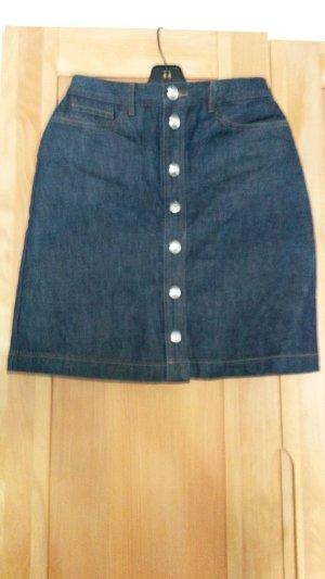 A.P.C. Jupe en jeans bleu foncé coton