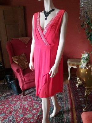 Ashley Brooke Pinafore dress magenta polyester