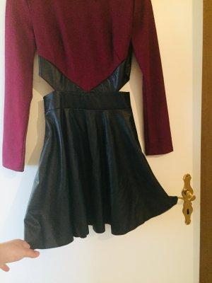 Vestido babydoll púrpura-negro Licra