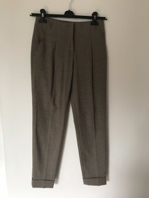 Zara Jersey Pants grey brown-light brown viscose