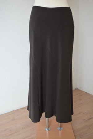 Godet Skirt dark brown mixture fibre