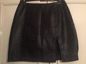 Gipsy Leather Skirt black