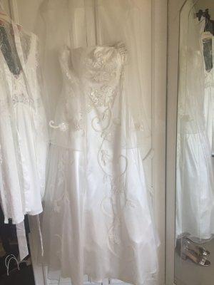 Niente Vestido línea A blanco puro-blanco