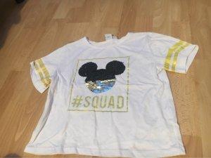 Ein Mickey Mouse Shirt mit Pailletten