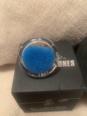 Statement Ring light blue-neon blue