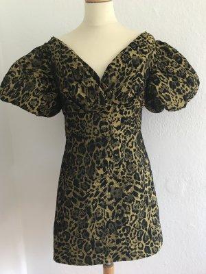 Ein schickes Abendkleid, Leo-Look in Gold, Gr40 D., UK 12, in sehr gutem Zustand