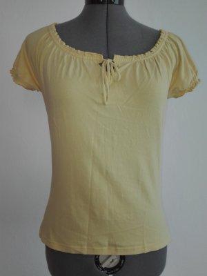 Ein schöne,leichte Sommer T-Shirt,in hell gelb Farbe,aus Baumwolle/ Elasthan.