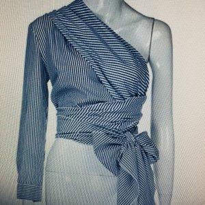 Ein-Schulter Bluse mit Gürtel-Schleife, NEU