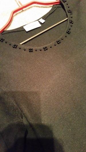 Canda Kraagloze sweater zwart Polyester