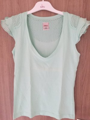 Ein sehr schönes Shirt der Marke Only in der Farbe Mint, der schöne Details